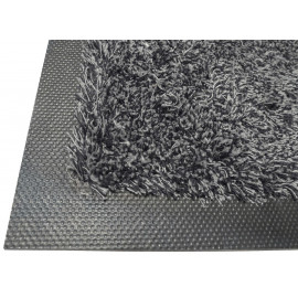 tapis coton deluxe gris fonc chin 115x180 cm matire tapis absorbant ...
