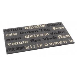 Paillasson coco Bienvenue gris 45x75 cm