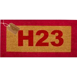 Tapis coco personnalisé H23 fond écru