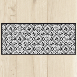 Paillasson de cuisine carreaux de ciment c t paillasson for Tapis long cuisine