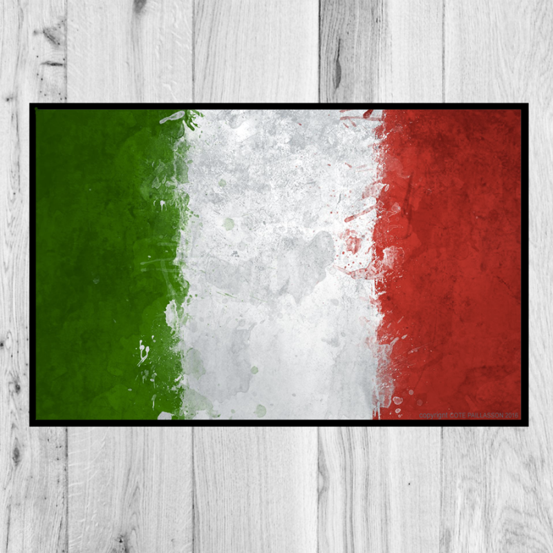 paillasson drapeau italie. Black Bedroom Furniture Sets. Home Design Ideas