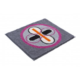 Carrelage design tapis rose et gris moderne design for Carrelage salle de bain gris rose