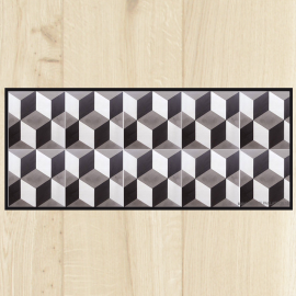 Tapis de cuisine design for Tapis cuisine imitation carreaux de ciment