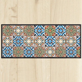 Paillasson de cuisine carreaux de ciment c t paillasson for Tapis de cuisine plastifie