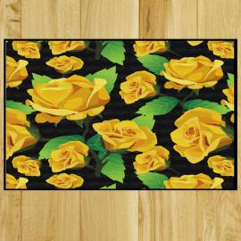 Paillasson fleurs jaunes