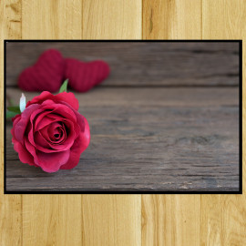 Paillasson Rose velours