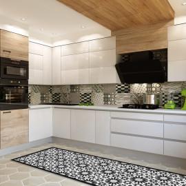 Tapis de cuisine carreaux de ciment classique