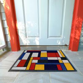 Paillasson Abstrait Façon Mondrian