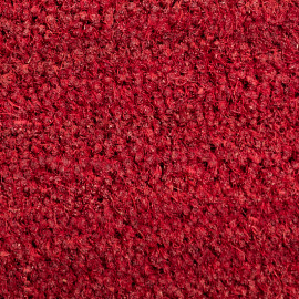 tapis brosse extra coco, rouge.