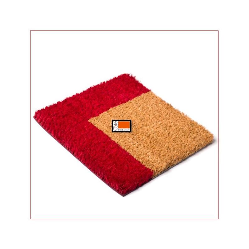 paillasson brosse extra tissé bord couleur 24mm  tapis