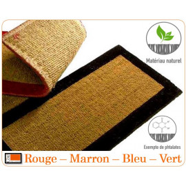 Tapis coco bord couleur...