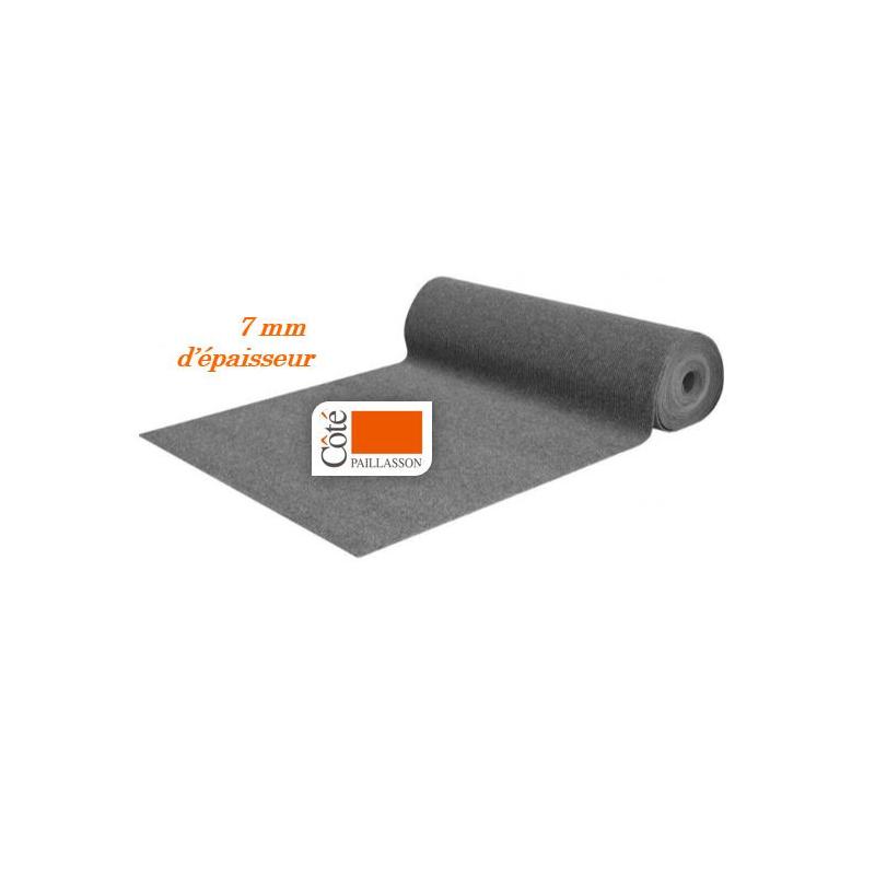 tapis d'entrée gris, découpe sur mesure