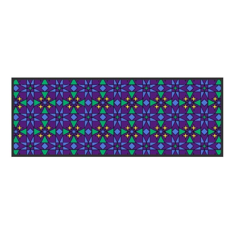 Tapis-carreaux-bleu-Majorelle