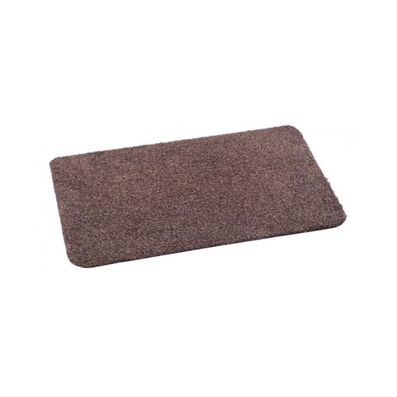 tapis d'entrée en coton, couleur marron.