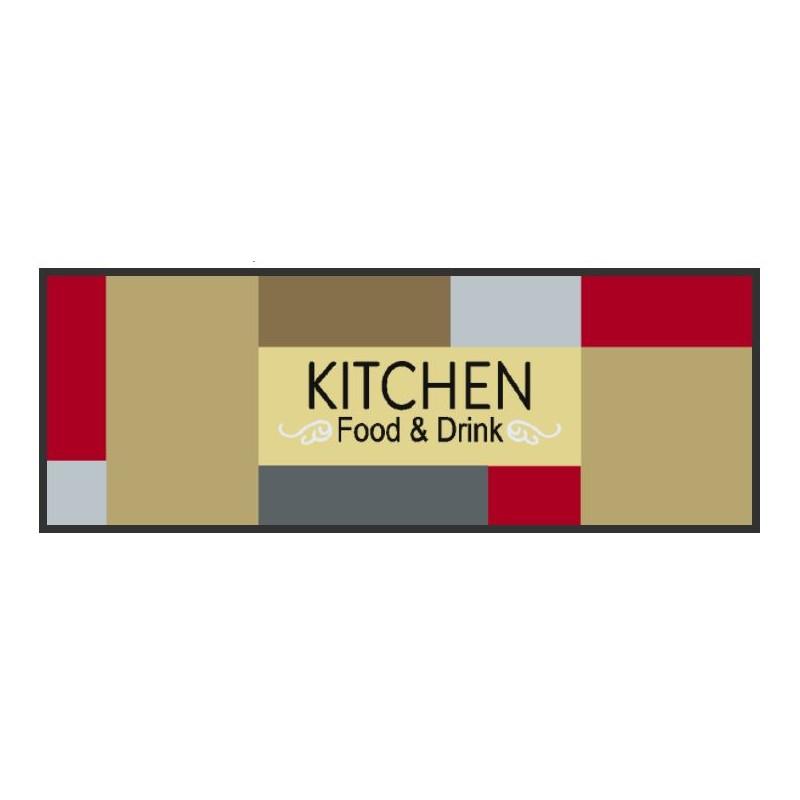 Tapis de cuisine coloré, tapis de cuisine en couleur