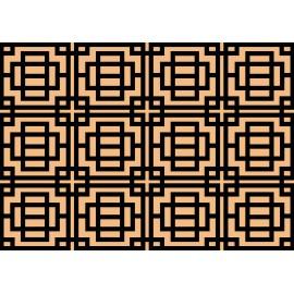 Design de tapis d'entrée style art déco