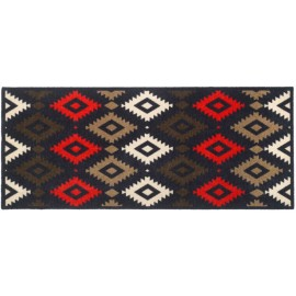 tapis d'entrée kilim rouge