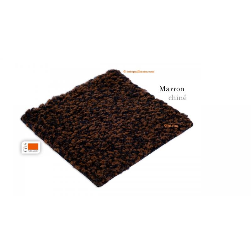 tapis d'entrée stop poussière, stop humidité, marron chiné