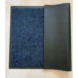 tapis d'entrée microfibres bleu
