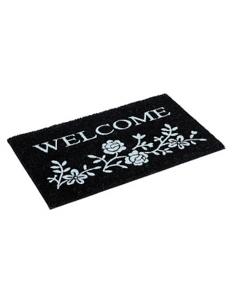 PAILLASSON COCO GLAMOUR WELCOME BLANC 45X75CM