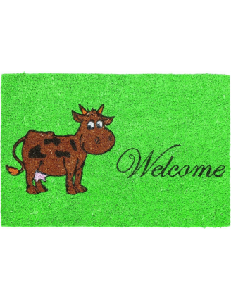Paillasson coco welcome vache 40X60CM
