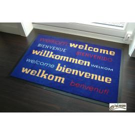 Paillasson bienvenue Bleu