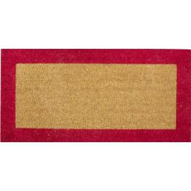 tapis coco extra tissé bordure couleur