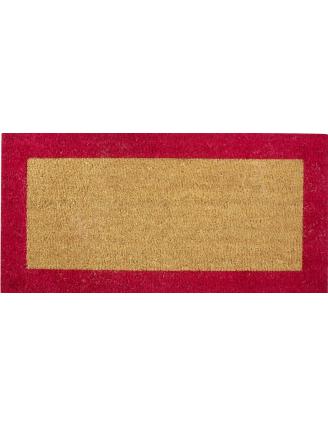 Tapis coco bord couleur semelle tissée