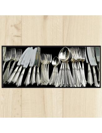 Tapis de cuisine argenterie