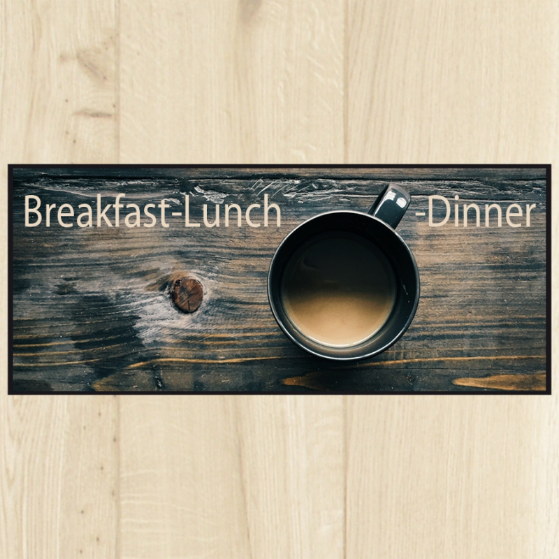 Tapis de cuisine breakfast