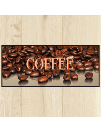 Tapis de cuisine café