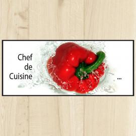 Tapis de cuisine chef