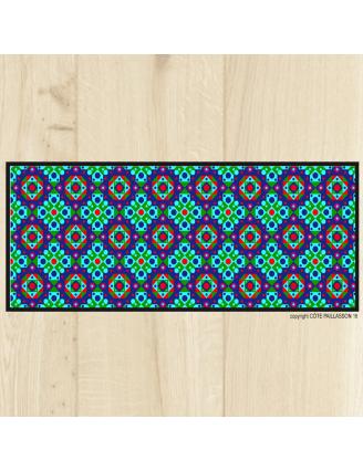 Tapis carreaux ciment bleu vert