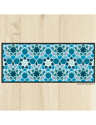 Tapis carreaux Aqua