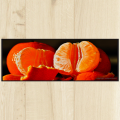 Tapis cuisine orange