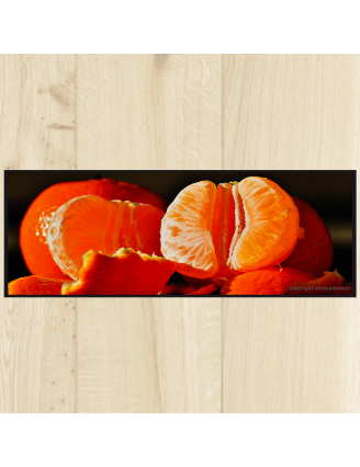 Tapis cuisine fruits orange