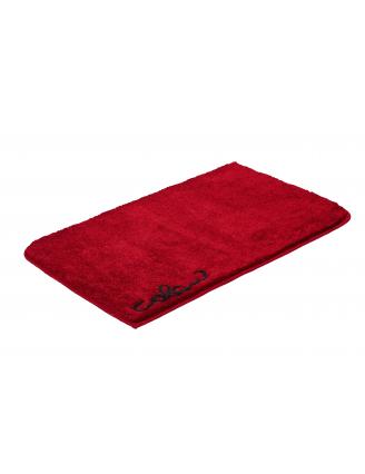 tapis de bain marron rouge. Black Bedroom Furniture Sets. Home Design Ideas
