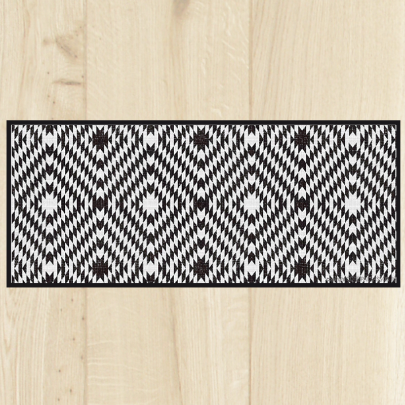 Tapis cuisine carreaux black for Tapis long cuisine