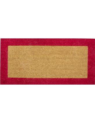Tapis coco sur mesure bord couleur