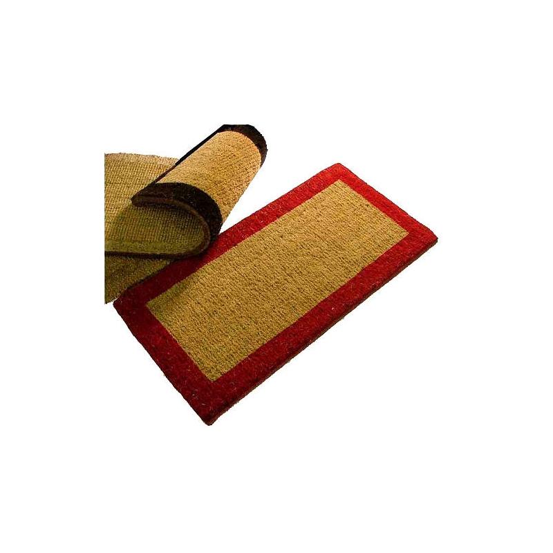 paillasson brosse extra tissé bord couleur 2425mm  tapis