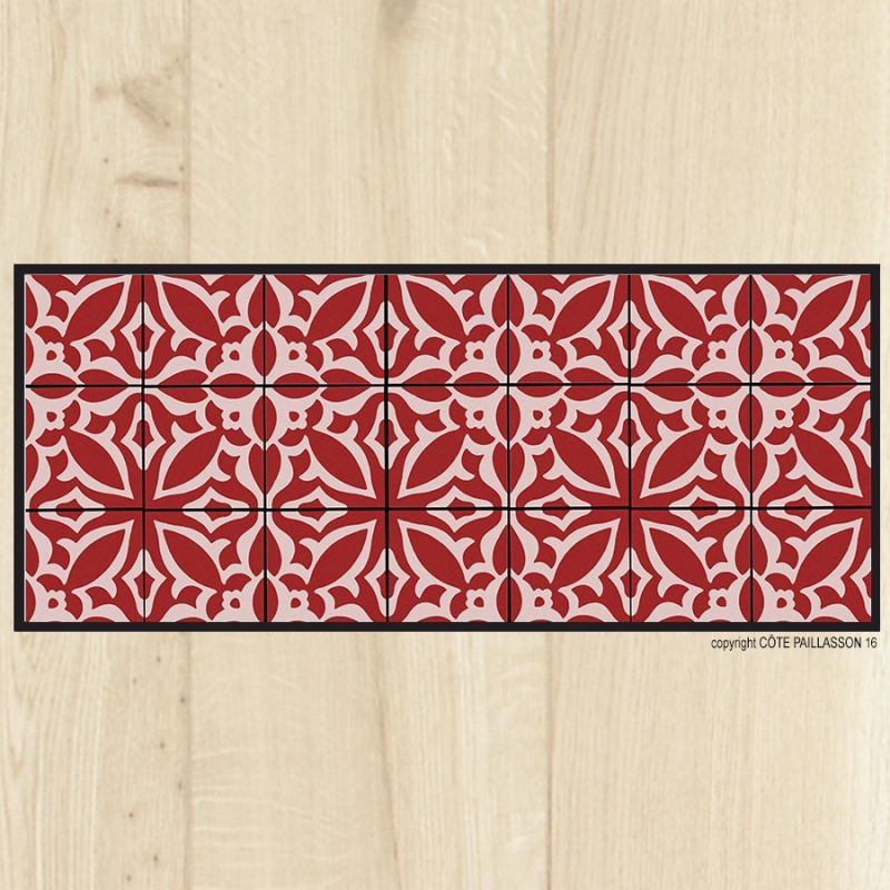 Tapis cuisine carreaux sienne for Tapis de cuisine original