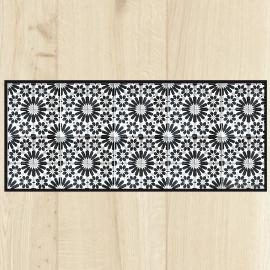 Tapis de cuisine carreaux gris for Tapis de cuisine gris design