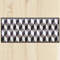 Tapis de cuisine carreaux ciment géométrique