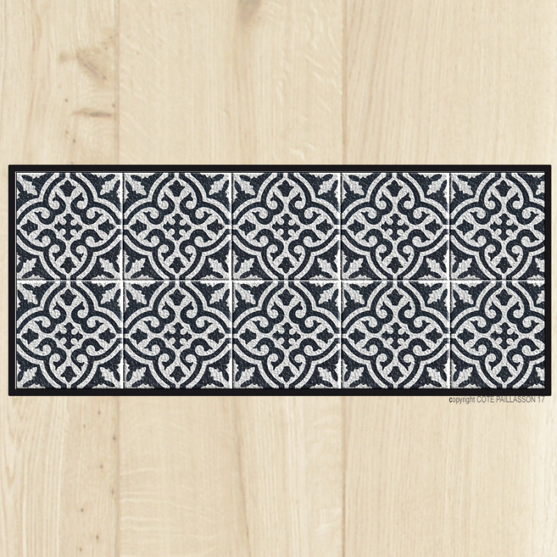 Tapis cuisine carreaux ciment marrakech for Tapis de cuisine original