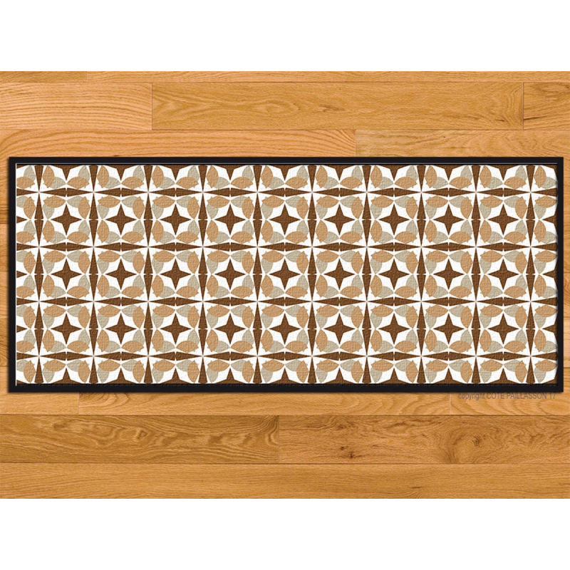 Paillasson cuisine marron clair for Tapis de cuisine gris design
