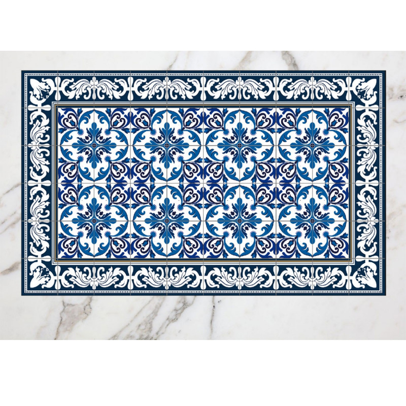 Tapis cuisine vinyle for Tapis carreaux de ciment saint maclou