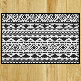 Paillasson Kilim black & white