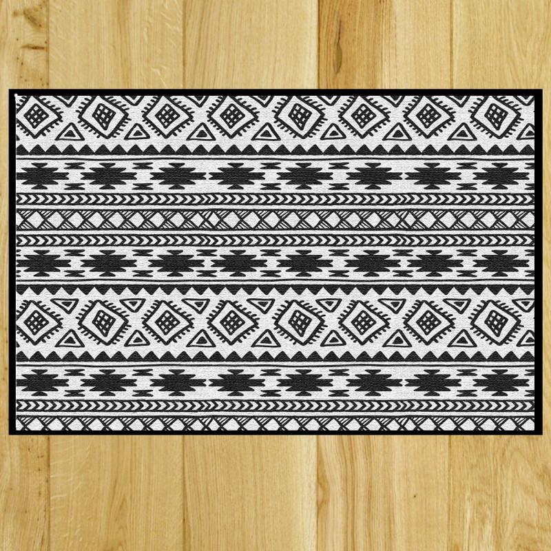 Paillasson Kilim black & white