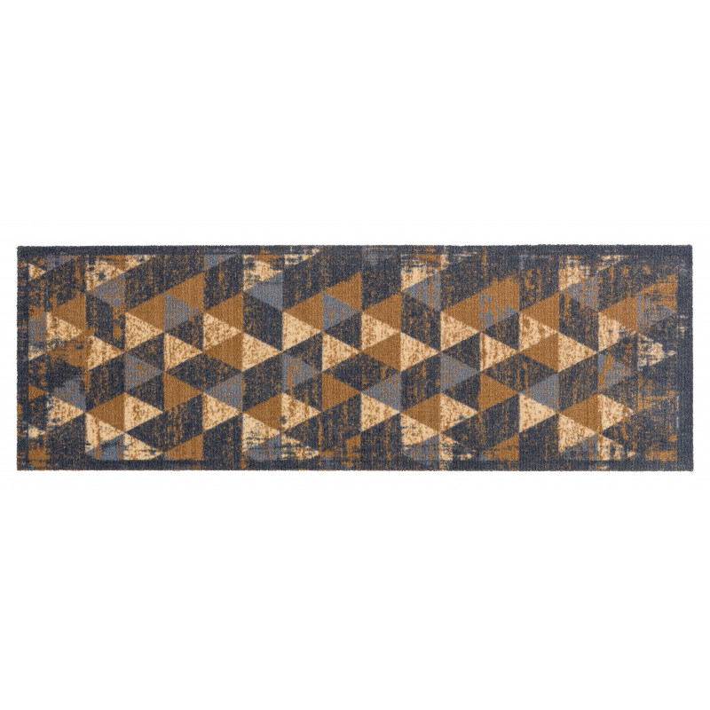 tapis cuisine beige, tapis cuisine déco triangle