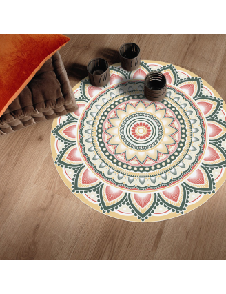 Tapis Vinyle Rond Univers
